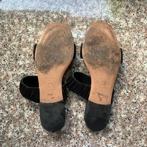 J. Crew Shoes - Lewit Black Stretchy Italian Leather Sandals